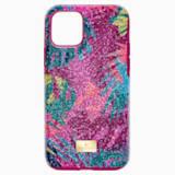 Tropikalne etui na smartfona z ramką ochronną, iPhone® 11 Pro, ciemne wielokolorowe - Swarovski, 5533960