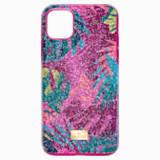 Pouzdro na chytrý telefon Tropical s ochranným okrajem, iPhone® 11 Pro Max, tmavé, vícebarevné - Swarovski, 5533963
