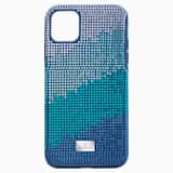 Etui na smartfona Crystalgram z ramką chroniącą przed uderzeniem, iPhone® 11 Pro Max, niebieskie - Swarovski, 5533965