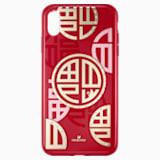 Full Blessing Fu 智能手機防震保護套, iPhone® XS Max, 紅色 - Swarovski, 5533967