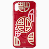 Full Blessing Fu Smartphone Case with Bumper, iPhone® XS Max, Red - Swarovski, 5533967