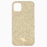 High 스마트폰 범퍼 케이스, iPhone® 11 Pro Max, 골드 톤 - Swarovski, 5533970
