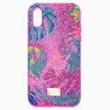 Pouzdro na chytrý telefon Tropical s ochranným okrajem, iPhone® XS Max, tmavé, vícebarevné - Swarovski, 5533971