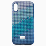 Crystalgram Smartphone Case with Bumper, iPhone® XS Max, Blue - Swarovski, 5533972
