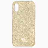 Pouzdro na chytrý telefon High s ochranným okrajem, iPhone® XS Max, zlaté - Swarovski, 5533974