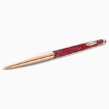 Crystalline Nova 圆珠笔, 红色, 镀玫瑰金色调 - Swarovski, 5534323
