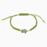 Mustique Sea Life-schildpadarmband, Groen, Goudkleurige toplaag - Swarovski, 5534344