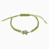 Mustique Sea Life Turtle 手链, 绿色, 镀金色调 - Swarovski, 5534344
