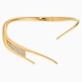 Gilded Treasures Tork Kolye, Beyaz, Altın rengi kaplama - Swarovski, 5534418