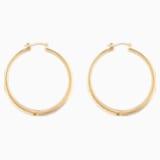 Gilded Treasures Hoop Pierced Earrings, White, Gold-tone plated - Swarovski, 5534420