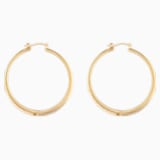 Gilded Treasures Hoop Pierced Earrings, White, Gold-tone plated - Swarovski, 5534420
