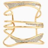 Bracelet-jonc Gilded Treasures, blanc, métal doré - Swarovski, 5534424