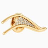 Gilded Treasures Brooch, White, Gold-tone plated - Swarovski, 5534503