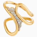 Navlékací prsten Gilded Treasures, bílý, pozlacený - Swarovski, 5534504