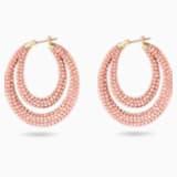 Pendientes de aro Tigris, rosa, baño tono oro - Swarovski, 5534512