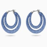 Tigris 穿孔耳環, 藍色, 鍍黑鉻色 - Swarovski, 5534514