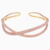 Naszyjnik typu choker z kolekcji Tigris, różowy, w odcieniu złota - Swarovski, 5534515