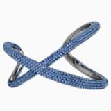 Manžetový náramek Tigris, modrý, pokovený rutheniem - Swarovski, 5534521