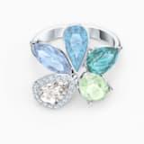 Sunny-ring, Licht meerkleurig, Rodium-verguld - Swarovski, 5534931