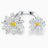 Eternal Flower 開口戒指, 黃色, 多種金屬潤飾 - Swarovski, 5534941