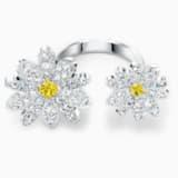 Eternal Flower 開口戒指, 黃色, 多種金屬潤飾 - Swarovski, 5534947