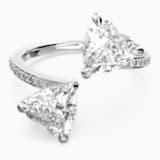 Attract Soul Heart Ring, White, Rhodium plated - Swarovski, 5535192