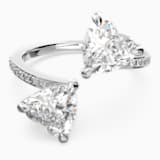 Attract Soul Heart gyűrű, fehér, ródium bevonattal - Swarovski, 5535193
