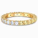 Vittore-ring half, Goudkleurig, Goudkleurige toplaag - Swarovski, 5535246