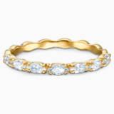 Vittore Marquise 戒指, 白色, 镀金色调 - Swarovski, 5535249