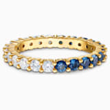 Vittore Half XL Кольцо, Синий Кристалл, Покрытие оттенка золота - Swarovski, 5535251