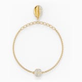 Strand Swarovski Remix Collection Shell, blanc, métal doré - Swarovski, 5535282