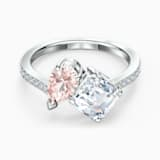 Attract Soul Ring, Pink, Rhodium plated - Swarovski, 5535285