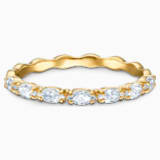 Vittore Marquise Кольцо, Белый Кристалл, Покрытие оттенка золота - Swarovski, 5535326
