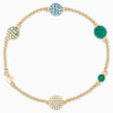 Strand Swarovski Remix Collection Pop, verde, placcato color oro - Swarovski, 5535365