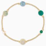 Strand Swarovski Remix Collection Pop, verde, baño tono oro - Swarovski, 5535365