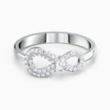 Pierścionek Swarovski Infinity, biały, powlekany rodem - Swarovski, 5535401