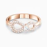 Swarovski Infinity 戒指, 白色, 镀玫瑰金色调 - Swarovski, 5535412
