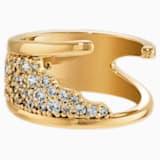 Gilded Treasures-ring, Wit, Goudkleurige toplaag - Swarovski, 5535425