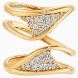 Gilded Treasures széles gyűrű, fehér, arany árnyalatú bevonattal - Swarovski, 5535551