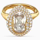 Shell-ring, Wit, Goudkleurige toplaag - Swarovski, 5535565