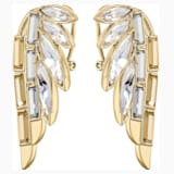 Wonder Woman Pierced Earrings, Gold tone, Gold-tone plated - Swarovski, 5535589