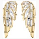 Wonder Woman Pierced Earrings, Gold tone, Gold-tone plated - Swarovski, 5535589