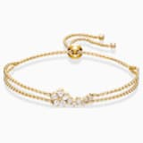 Botanical-armband, Wit, Goudkleurige toplaag - Swarovski, 5535790