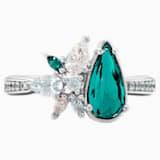 Botanical gyűrű, zöld, ródium bevonattal - Swarovski, 5535839