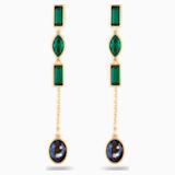 Boucles d'Oreilles « Ear-Jacket » Bamboo Short, multicolore sombre, métal doré - Swarovski, 5535884