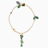 Bamboo Panda 手链, 深色渐变, 镀金色调 - Swarovski, 5535885