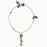 Bracelet Bamboo Panda, multicolore sombre, métal doré - Swarovski, 5535885