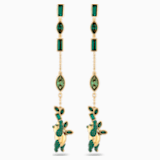 Bamboo Panda Серьги, Зеленый Кристалл, Покрытие оттенка золота - Swarovski, 5535886