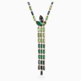 Bamboo Y Necklace, Dark multi-colored, Gold-tone plated - Swarovski, 5535893