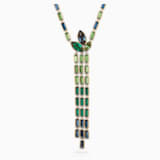 Bamboo Y Necklace, Dark multi-coloured, Gold-tone plated - Swarovski, 5535893